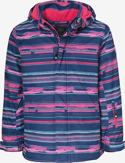 COLOR KIDS Skijacke 'DONJA' in blau / hellblau / pink / weiß, Produktansicht