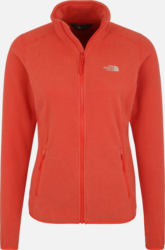 Veste North Polaire '100 En Glacier' Rouge Face Fonctionnelle The RLqcAj435
