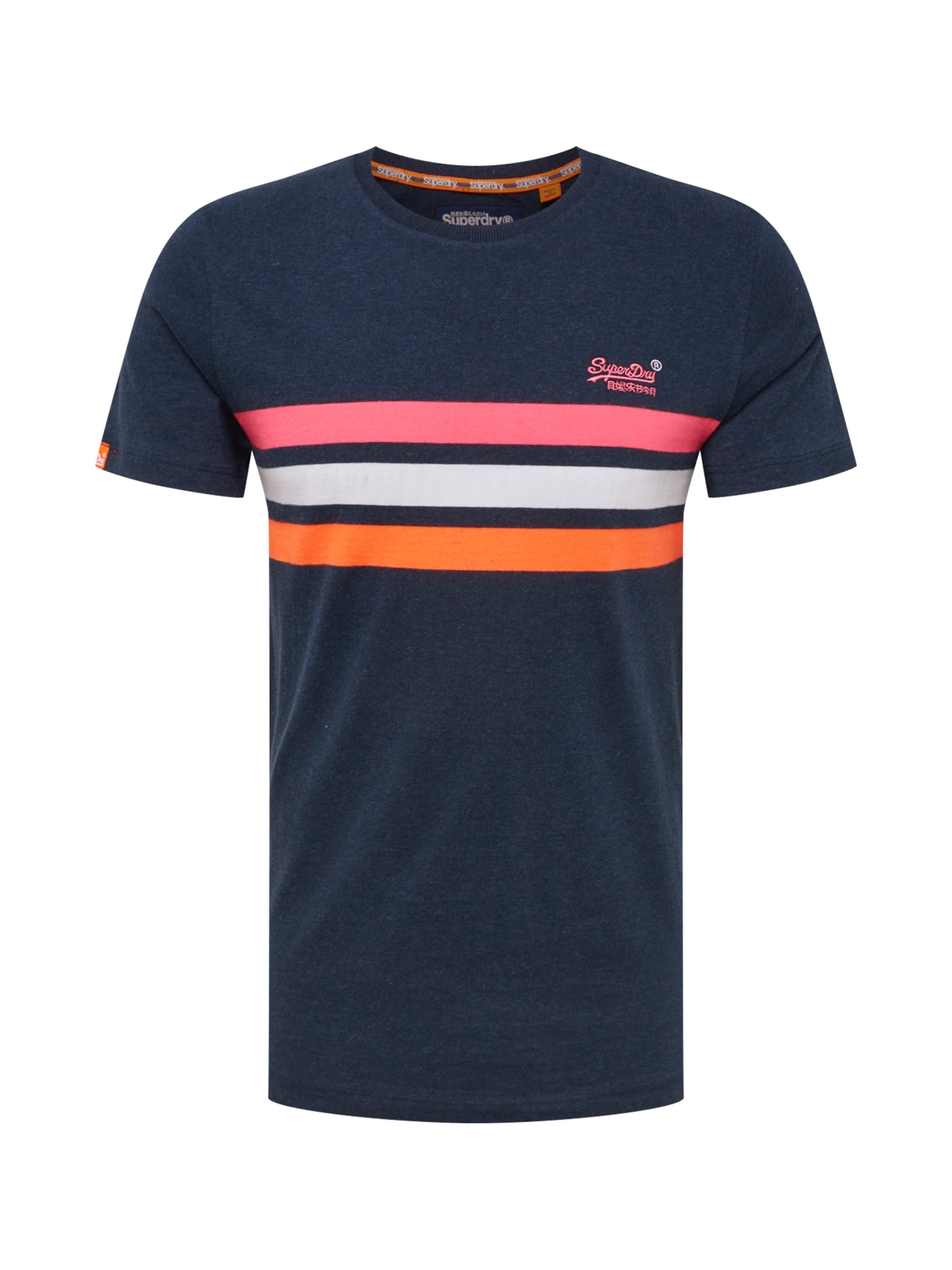 Fluro Weiß Chestband' Label In Pink 'orange DunkelblauOrange Shirt Superdry 2WYIEDH9