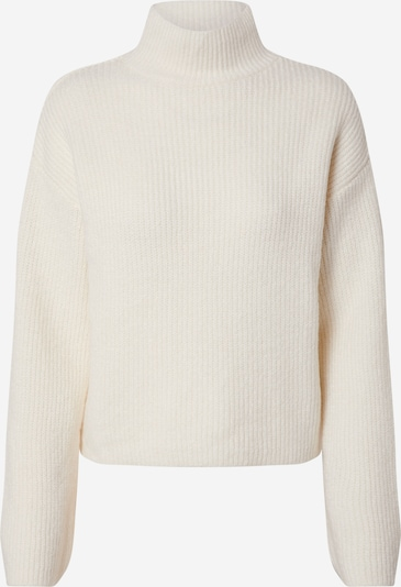NA-KD Pullover 'short wide sleeve knitted polo' in offwhite, Produktansicht