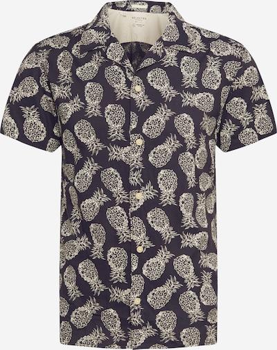 SELECTED HOMME Hemd in schwarz / offwhite, Produktansicht