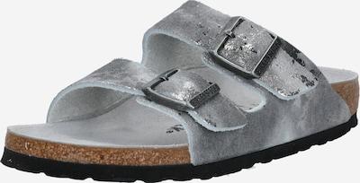 BIRKENSTOCK Mule 'Arizona' en gris argenté, Vue avec produit