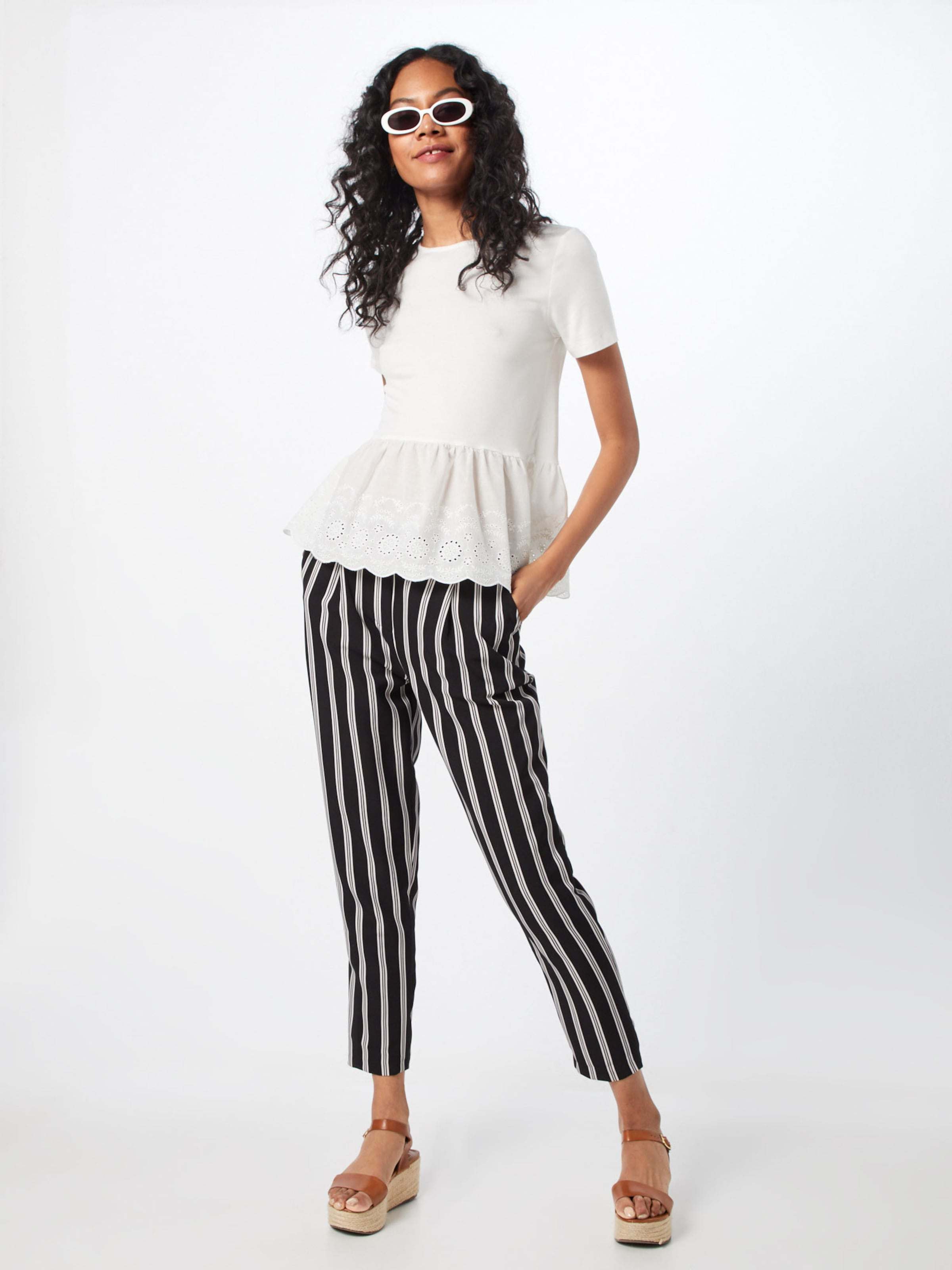 Shirt 've Broderie Peplum In New Mix Look Top' Weiß f67gyb