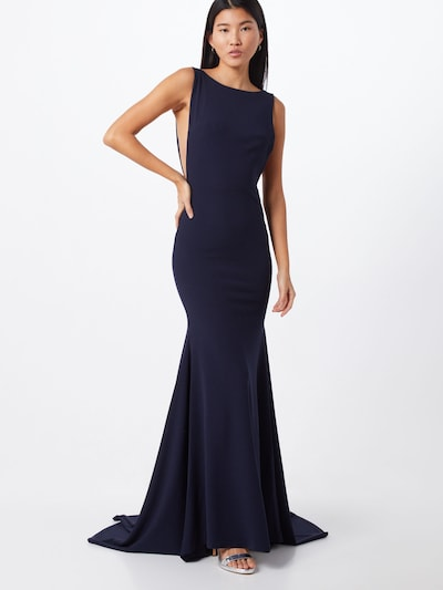 Missguided Vakarkleita 'BRIDESMAID SLEEVELESS LOW BACK MAXI DRESS' pieejami tumši zils, Modeļa skats