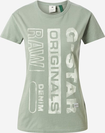G-Star RAW Shirt in hellgrün / weiß, Produktansicht