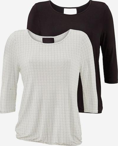 LASCANA Shirts in schwarz / weiß, Produktansicht