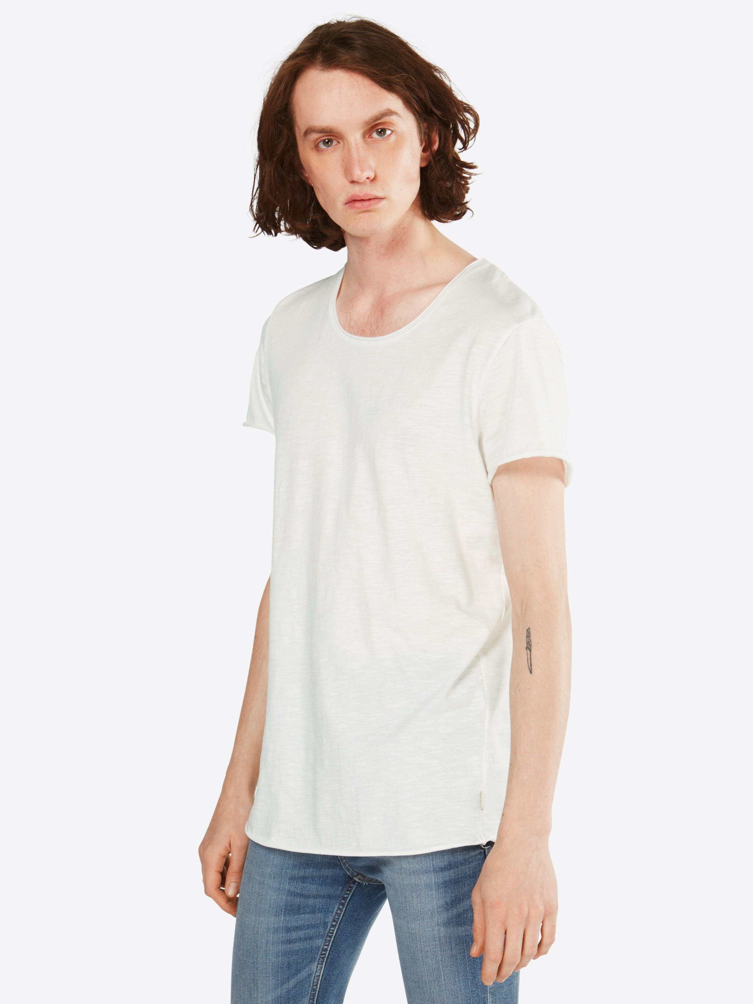 In shirt neck Jackamp; Jones T Tee Ss U Weiß Noos' 'jjebas 0yvmONwn8