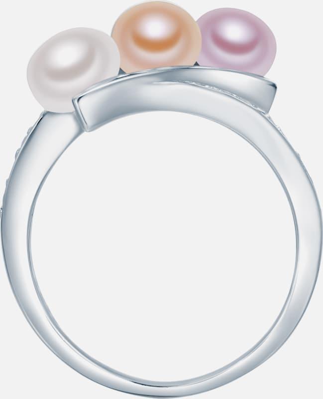 Valero Pearls Silberring mit Süßwasser-Zuchtperlen und Zirkonia