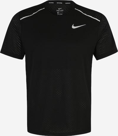 Tricou funcțional 'Rise' NIKE pe negru / alb, Vizualizare produs