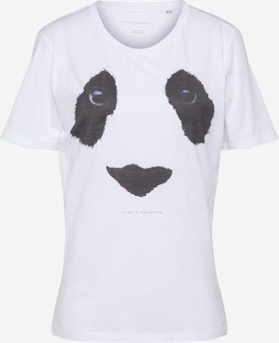 EINSTEIN & NEWTON Majica 'Panda Eyes Paxton' u tamo siva / bijela, Pregled proizvoda
