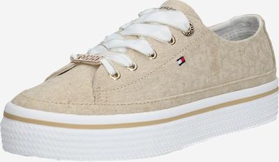 TOMMY HILFIGER Sneaker 'KELSEY 1D6' in stone / weiß: Frontalansicht