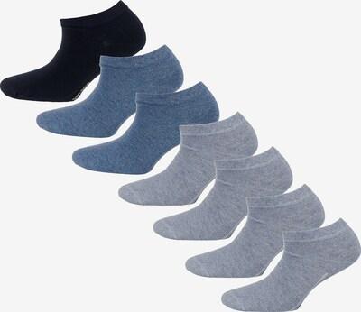 camano Sneakersocken in rauchblau / graumeliert / schwarz: Frontalansicht