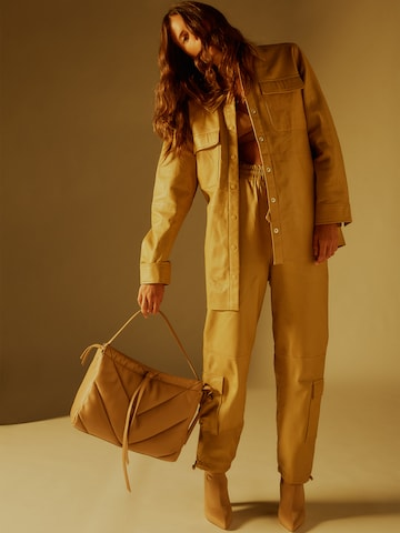 Beige Leather Look