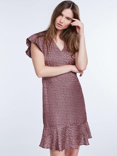 SET Kleid in altrosa / schwarz: Frontalansicht