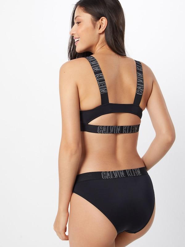 Bikini rp' De Klein Noir 'plunge En Calvin Swimwear Bralette Hauts 0kZwONX8Pn