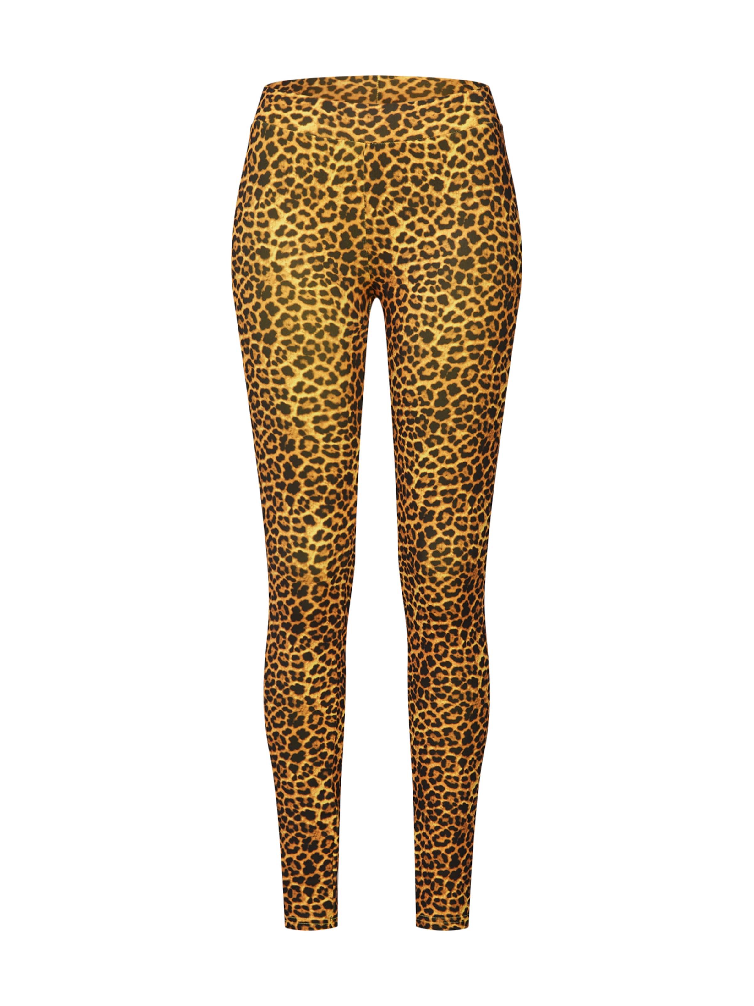 Urban Classics Leggings barna / sárga / fekete színben