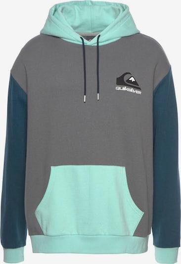 QUIKSILVER Sportsweatshirt 'Heritage Midori Blank' in de kleur Hemelsblauw / Lichtblauw / Grijs / Zwart / Wit, Productweergave