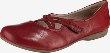 JOSEF SEIBEL Ballet Flats with Strap 'Fiona' in Red