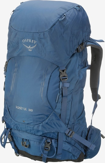 Osprey Wanderrucksack 'Kestrel 38' in blau: Frontalansicht