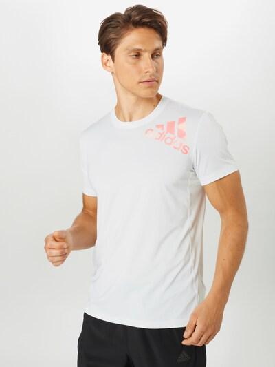 ADIDAS PERFORMANCE Functioneel shirt in de kleur Sinaasappel / Wit: Vooraanzicht