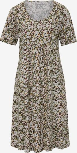 Green Cotton Kleid in mischfarben / weiß, Produktansicht