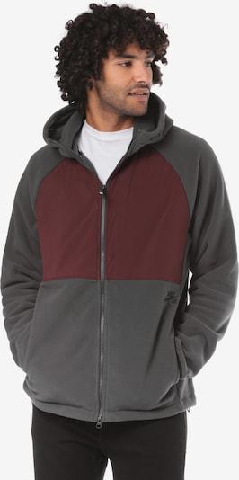 Nike SB 'Polartec' Fleecejacke in dunkelgrau / bordeaux, Produktansicht