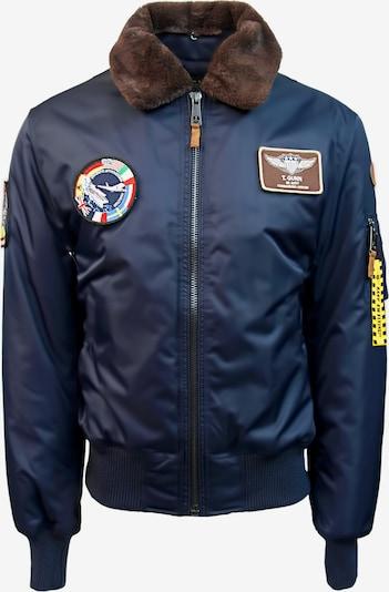 TOP GUN Pilotenjacke 'Fly' in navy / braun: Frontalansicht