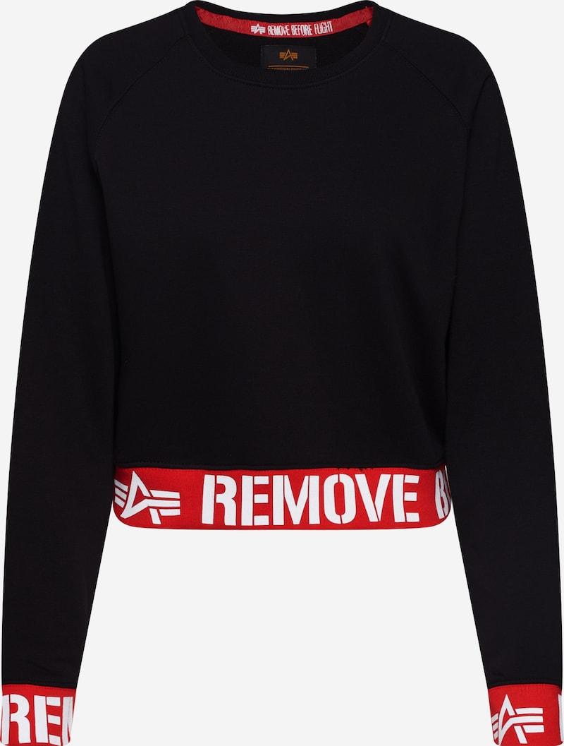 ALPHA INDUSTRIES Sweatshirt 'RBF Cropped Sweater Wmn' in
