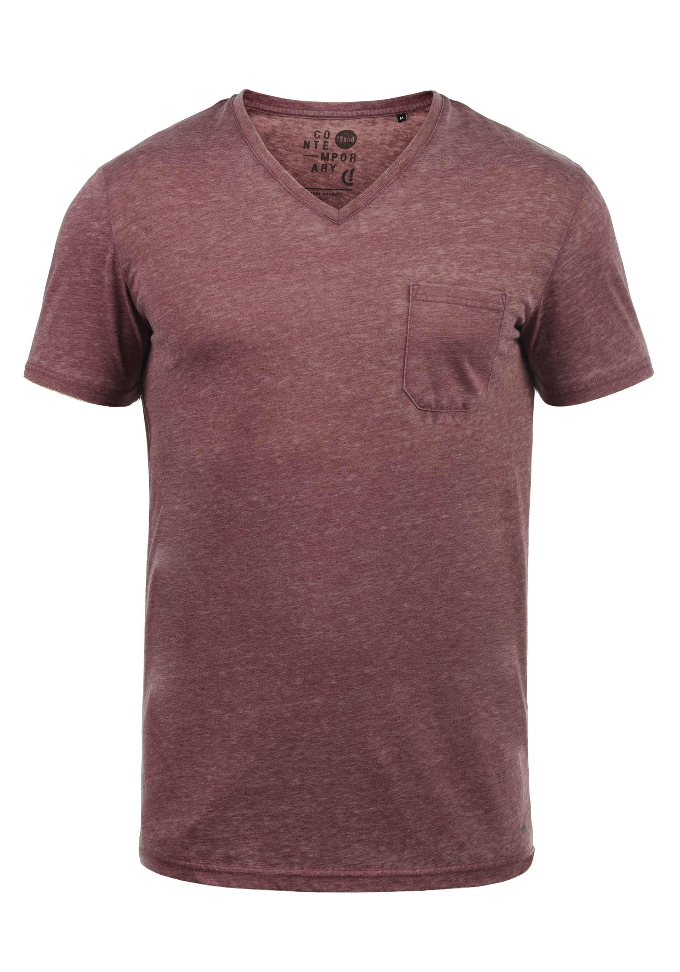 'theon' V Weinrot solid In shirt 0wknPO
