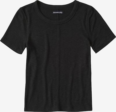 Abercrombie & Fitch T-Shirt 'S119-SS SLIM RIB TEE NEUTRALS' in schwarz: Frontalansicht