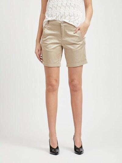 VILA Pantalon en beige, Vue avec modèle