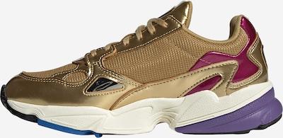 ADIDAS ORIGINALS Sneaker 'Falcon' in gold / weiß: Seitenansicht