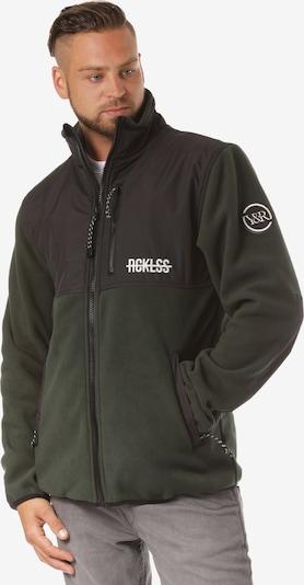 Young & Reckless Veste en polaire 'Polar Fleece' en vert / vert foncé / noir, Vue avec produit
