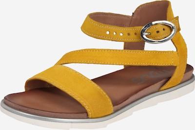 MJUS Riemensandale 'KATANA' in gelb, Produktansicht