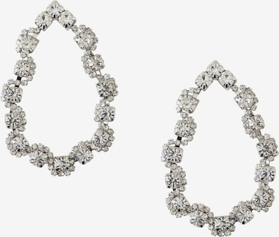 Orelia Oorbellen 'Crystal Open Teardrop Earrings' in de kleur Zilver, Productweergave