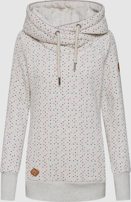 Ragwear Sweatshirt 'Gripy Bold Dots' in weiß  Markenkleidung für Männer und Frauen