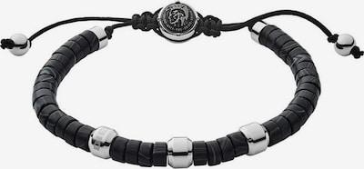 DIESEL Armband in grau / schwarz / silber, Produktansicht