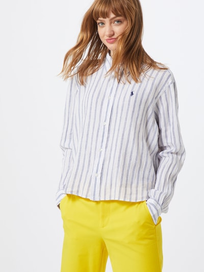 POLO RALPH LAUREN Bluse 'N WD CRP ST-LONG SLEEVE-SHIRT' in blau / weiß, Modelansicht