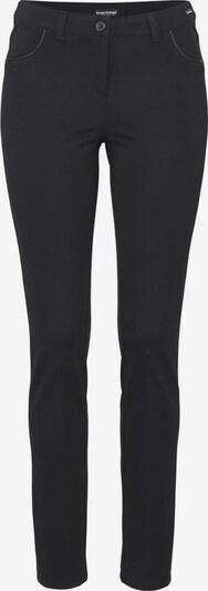 BRUNO BANANI Pantalon de pyjama 'Milanorib mit PU-Details' en noir, Vue avec produit