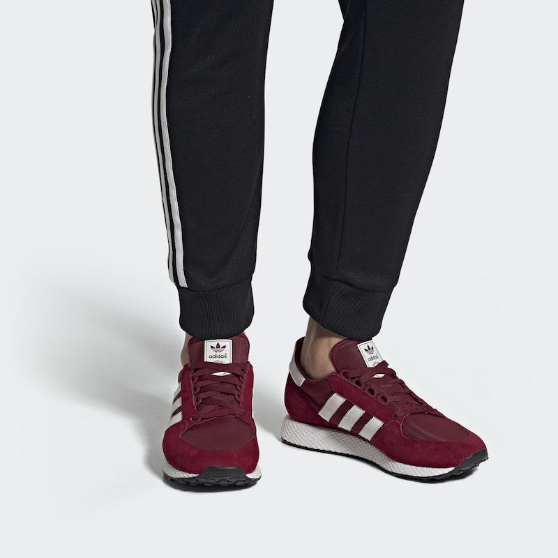 adidas schuhe herren bordofarben aus leder