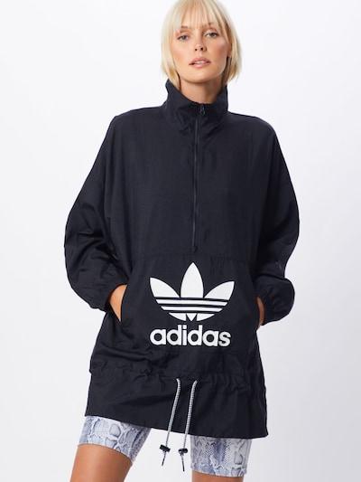 ADIDAS ORIGINALS Jacke in schwarz / weiß: Frontalansicht