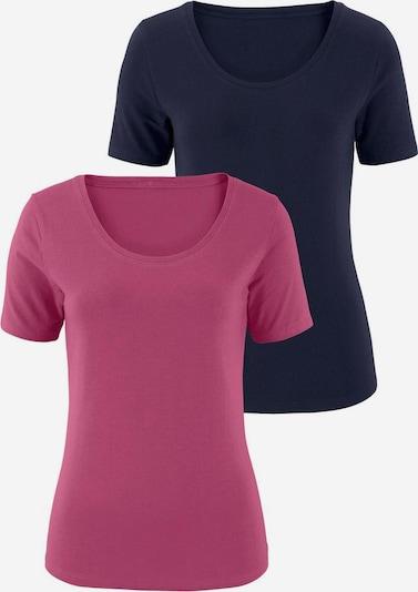 VIVANCE T-Shirts (2 Stück) aus Baumwoll-Stretch in marine / dunkelpink, Produktansicht