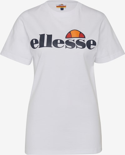 ELLESSE T-Shirt 'Albany' in orange / rot / schwarz / weiß, Produktansicht