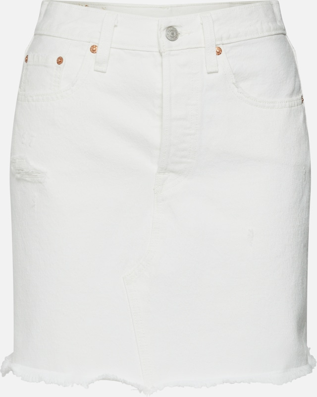 LEVI'S Jeansrock 'HR DECON ICONIC BF SKIRT' in weiß, Produktansicht