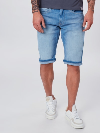 Pepe Jeans Shorts 'Cash' in blue denim, Modelansicht