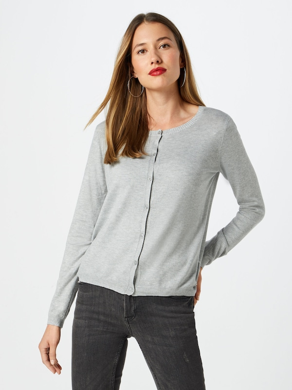 TOM TAILOR Cardigan in graumeliert: Frontalansicht