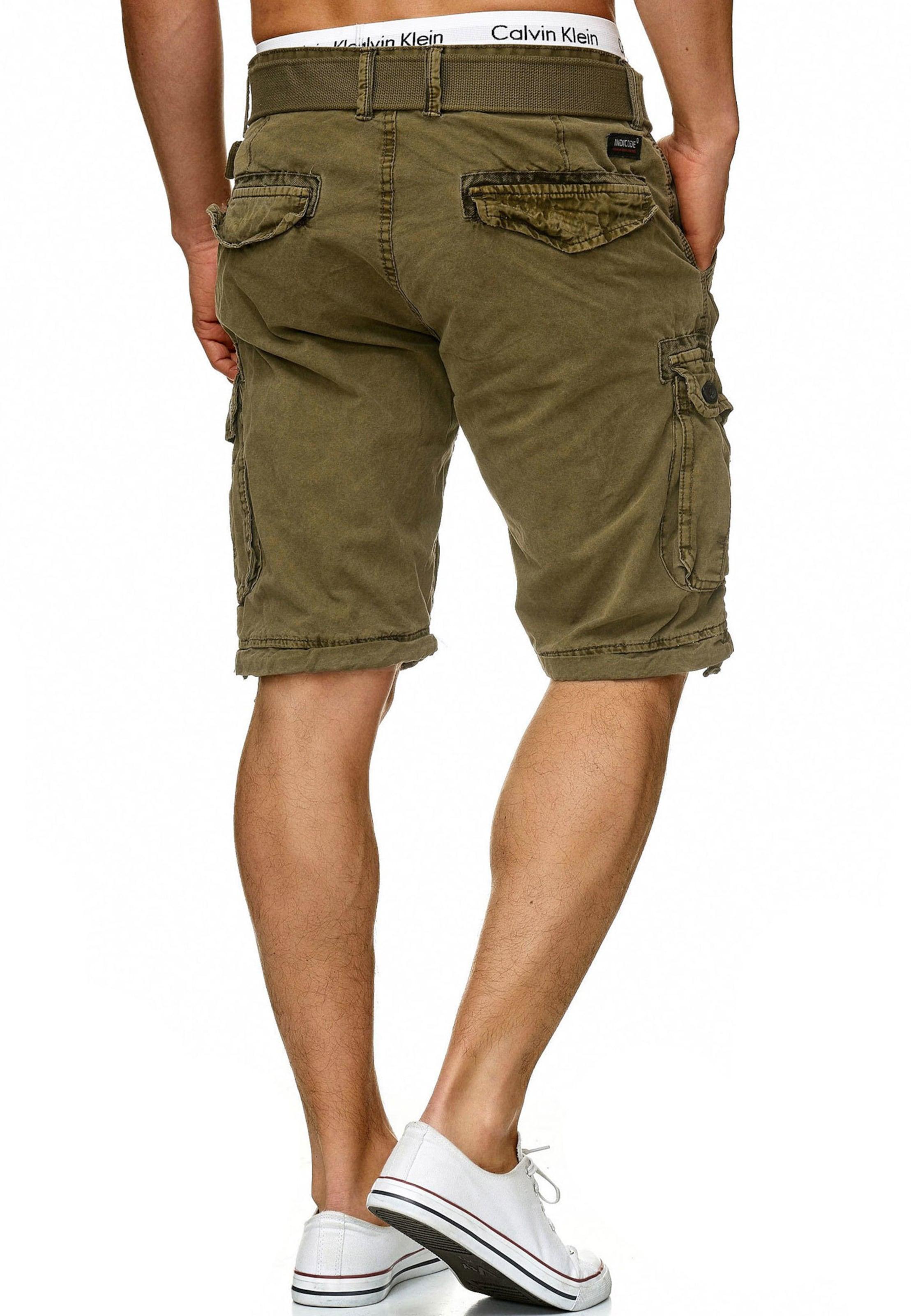 In Indicode Jeans 'bolton' Khaki Shorts f7gb6y