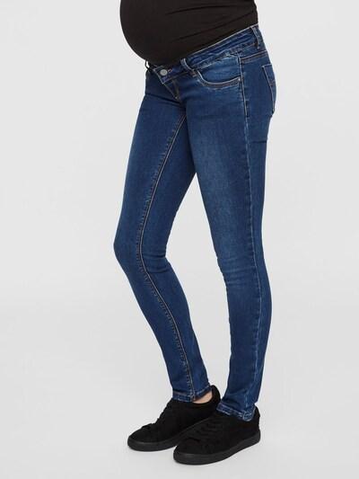 MAMALICIOUS Jeans 'Mllola' in blue denim / graumeliert, Modelansicht