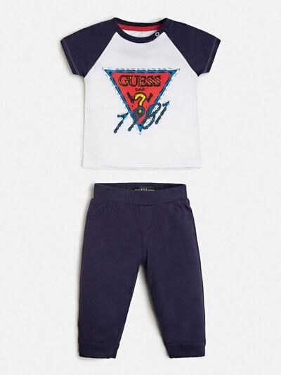 GUESS KIDS T-Shirt und Hose in navy / rot / weiß, Produktansicht
