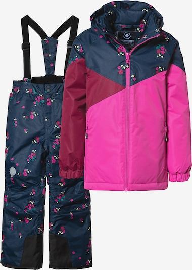 myToys-COLLECTION Skianzug in navy / pink / dunkelrot, Produktansicht